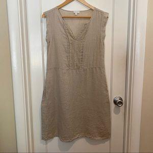 Garnet Hill Linen Cap Sleeve Dress